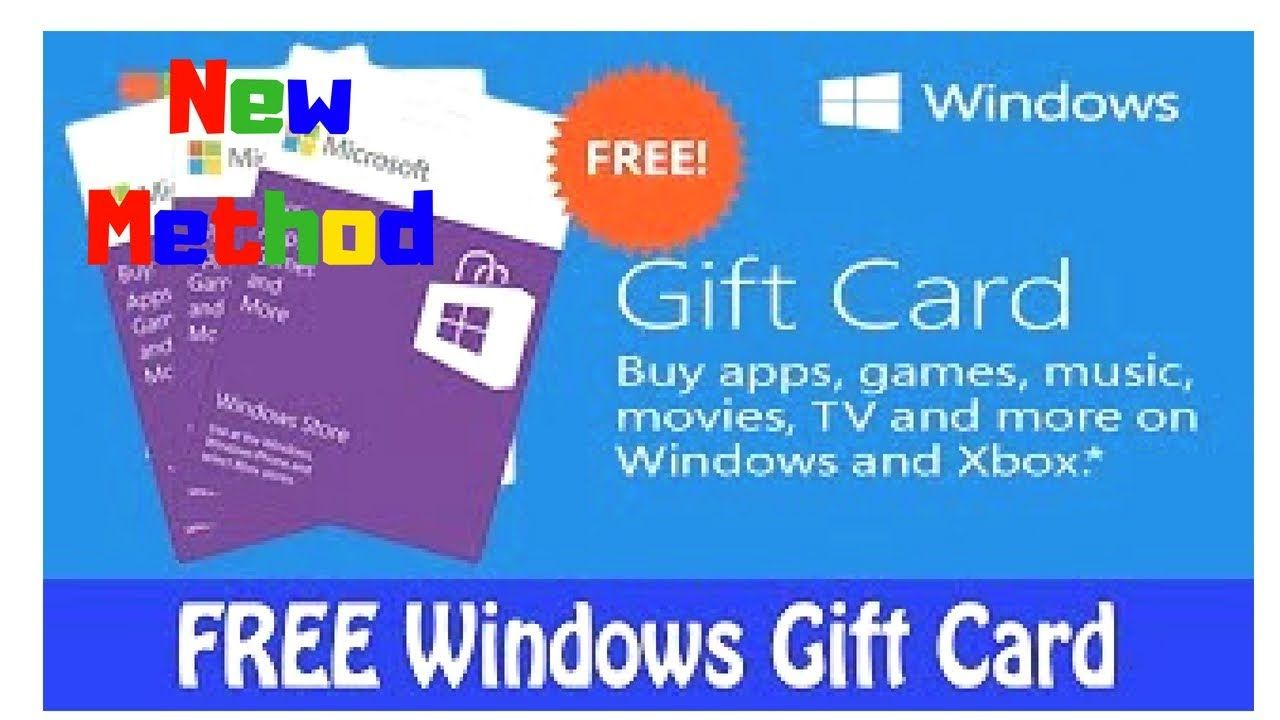 New Method Microsoft Gift Cards Card Redeem Code Free Windows 2018