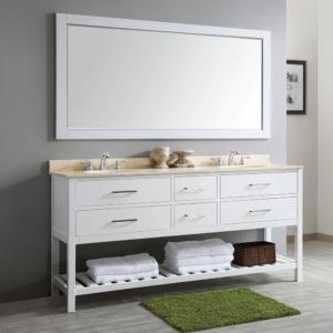 Foligno Vanity In Espresso, White Or Grey With Mirror