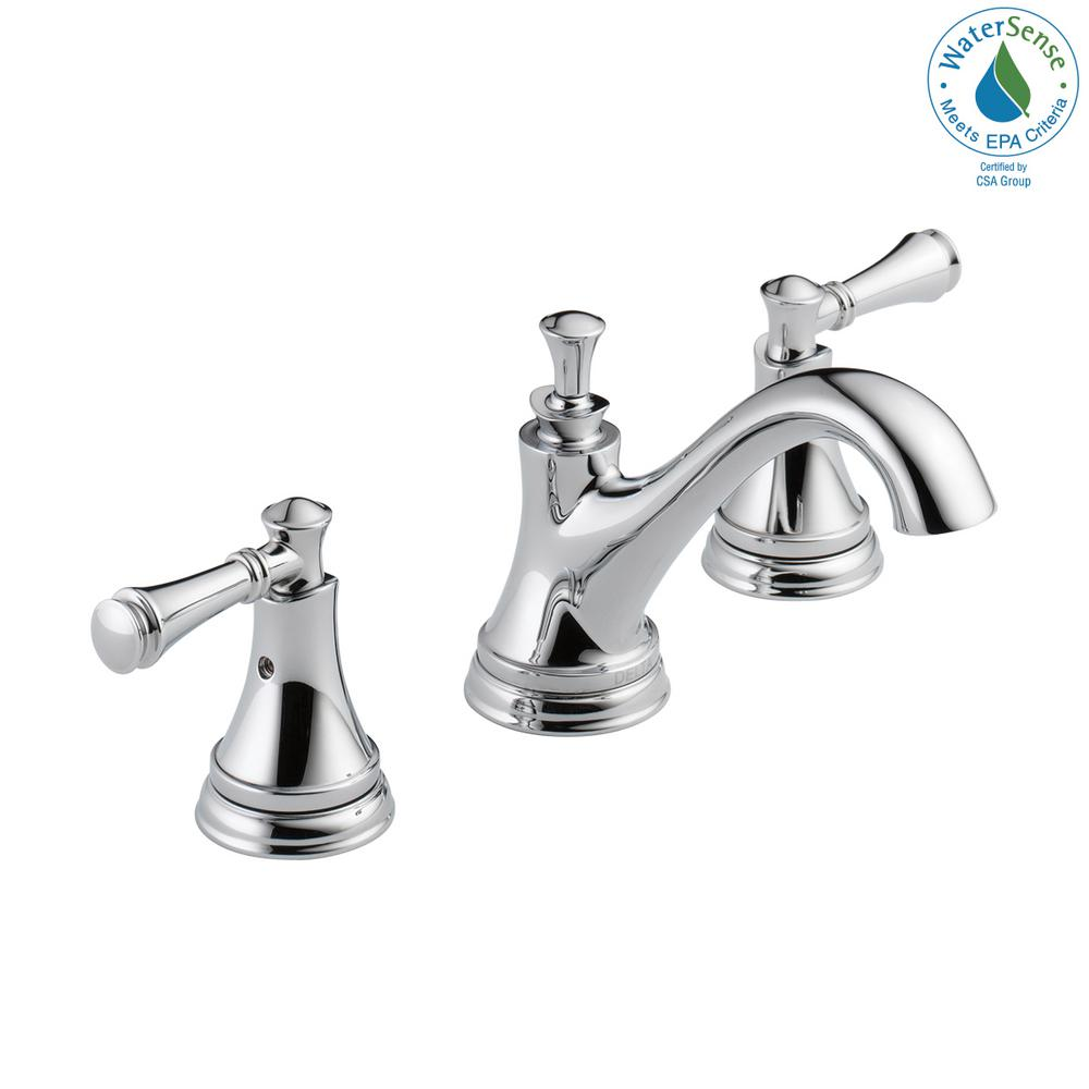 Delta Silverton 8 In Widespread 2 Handle Bathroom Faucet In Chrome 35713lf Eco The Home Depot Bathroom Faucets Tub And Shower Faucets High Arc Bathroom Faucet [ 1000 x 1000 Pixel ]