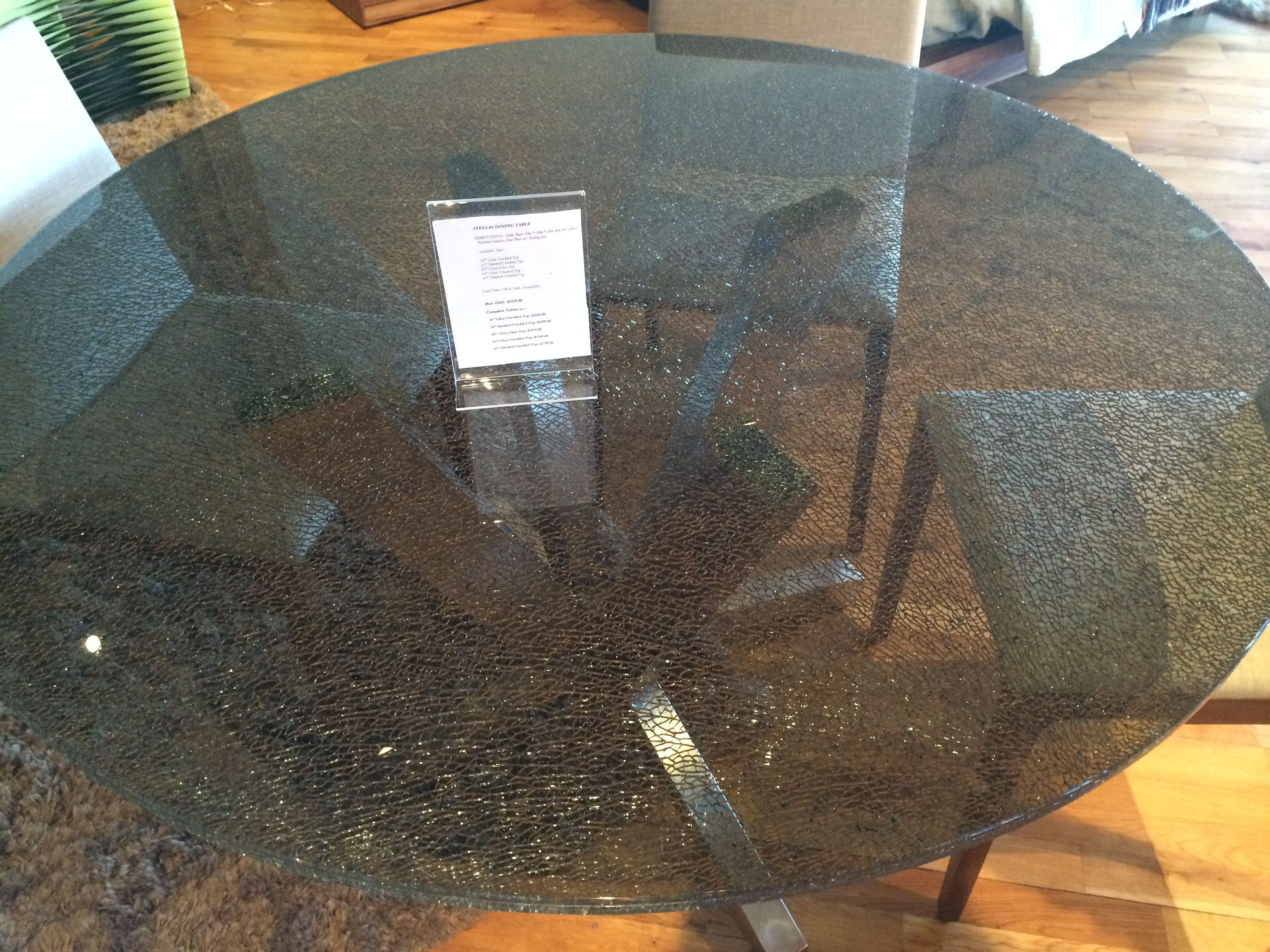 Ironhorse Home Crackled Glass Top Dining Table Very Unique Glass Dining Room Table Glass Dining Table Designs Glass Dining Table [ 2448 x 3264 Pixel ]