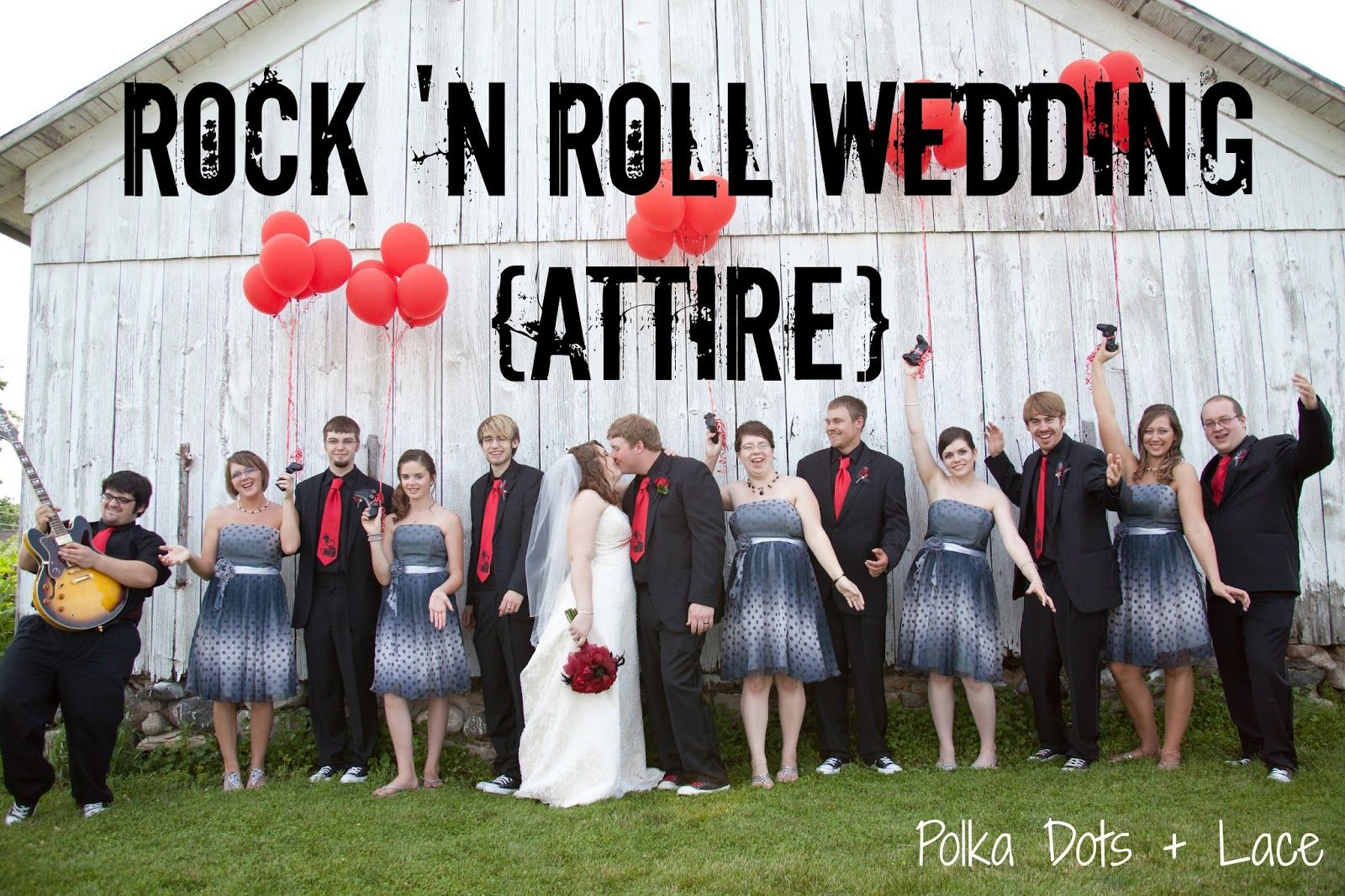 Polka Dots Lace Rock N Roll Wedding Attire The Las