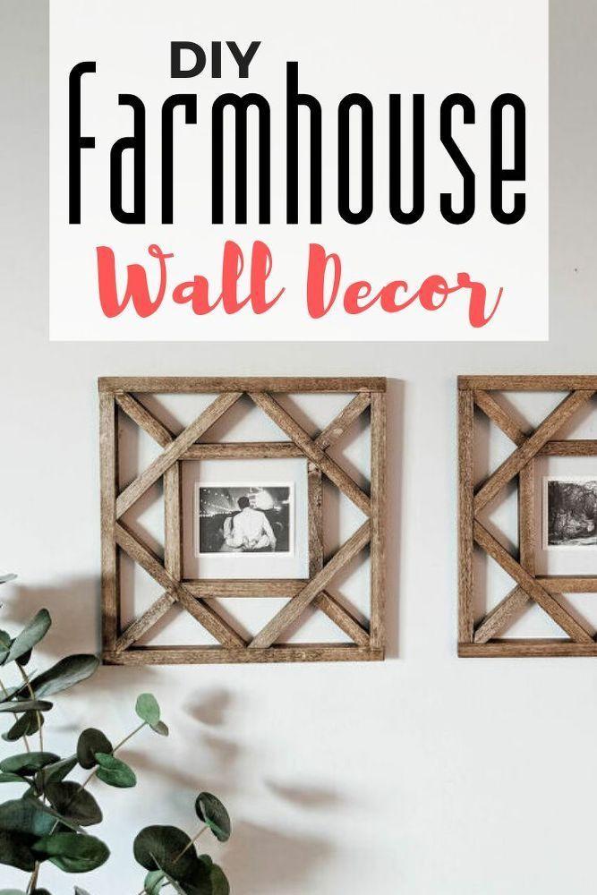 Diy Rustic Farmhouse Wall Decor Idea Diy Wood Wall Decor Diy Wood Wall Wood Picture Frames Diy