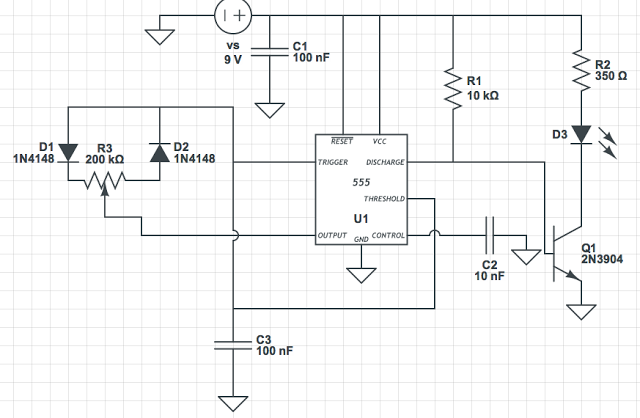 Here Is A Very Simple Ic 555 Oscillator That Generates A