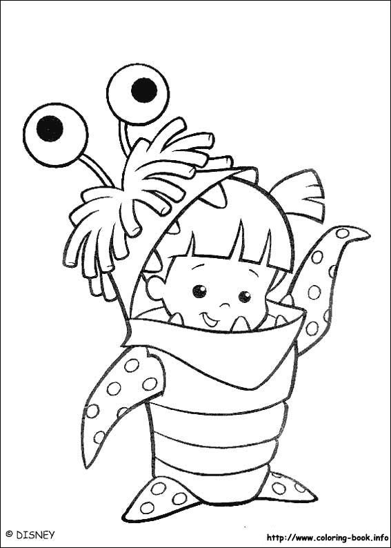 Monsters, inc. coloring picture | Children Coloring Pages ...