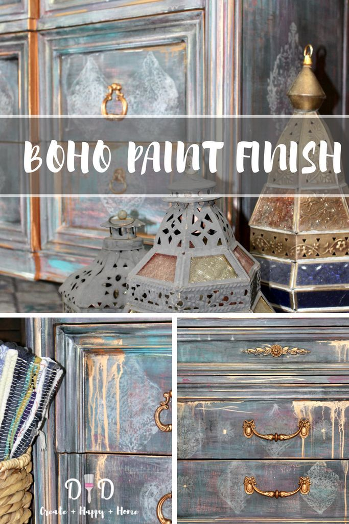 Boho/Moroccan Paint Finish - Hey There Delyla! BEST BLOGGERS BOARD