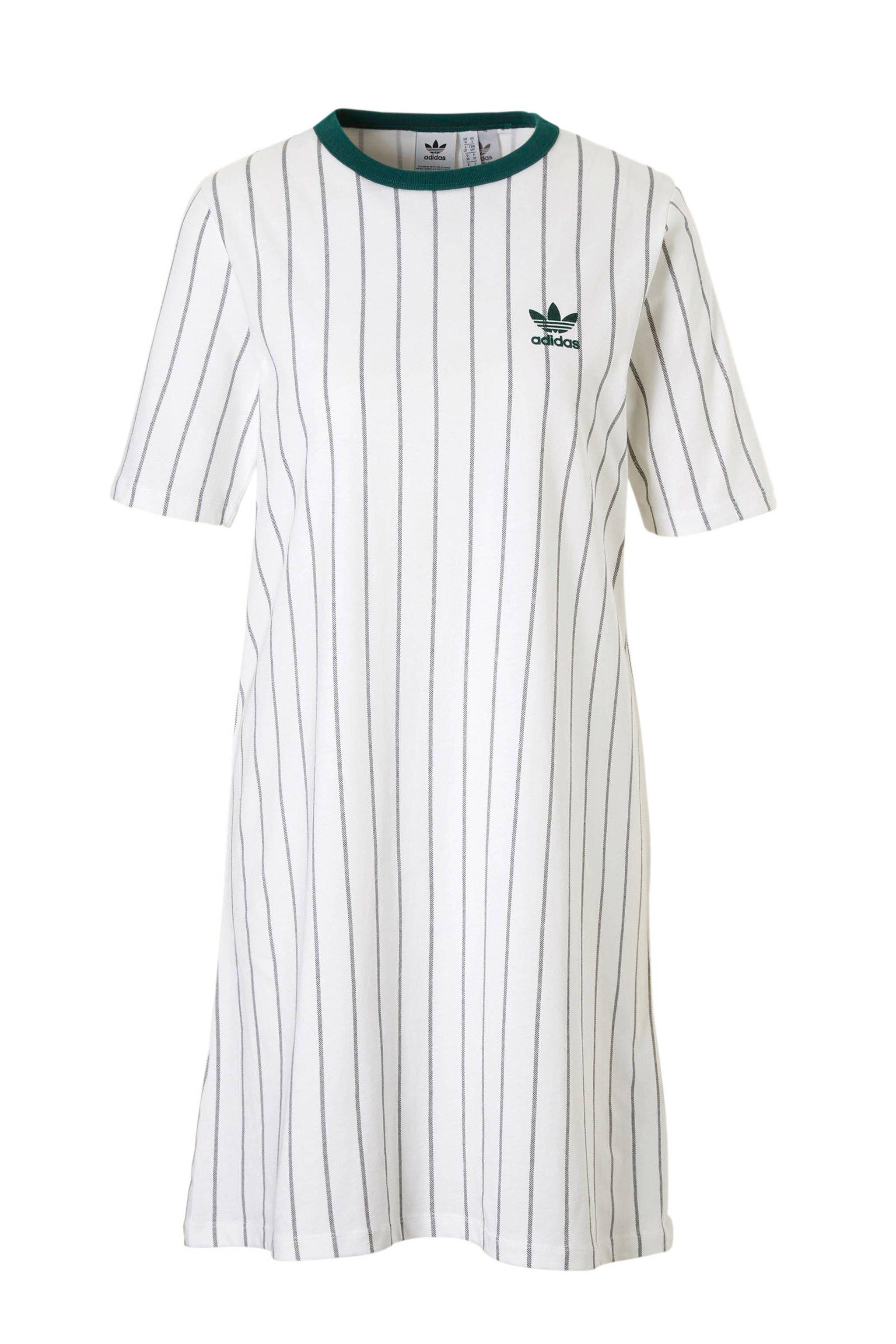 adidas originals T-shirt jurk wit/groen, Wit/groen | T-shirt ...