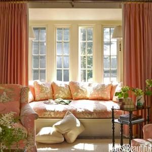 Bay window seat with curtains to turn it into a private - Window seat bay window ...