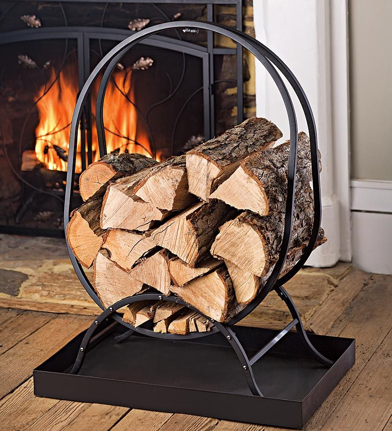 This Oval Firewood Rack Is The Perfect Indoor Wood Rack. The Compact  Footprint Makes It A Great Hearth Firewood Rack And The Included Tray  Catches Wood ...