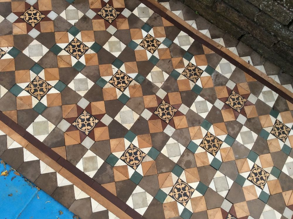 Antique Victorian Reclaimed Floor Tiles | Staying in - tiled hearth ...