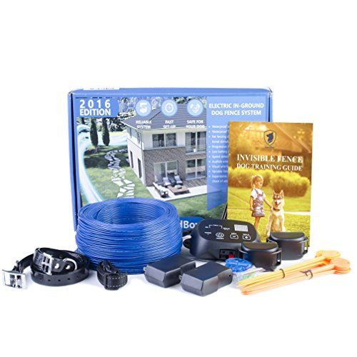 invisible fence underground dog containment system by goodboy wireless electric perimeter fence with 2 shock collars