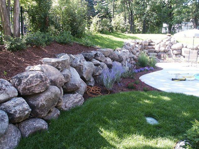 Contact Arnold Masonry Landscape In Atlanta Ga Landscaping With Rocks Sloped Garden Boulder Retaining Wall