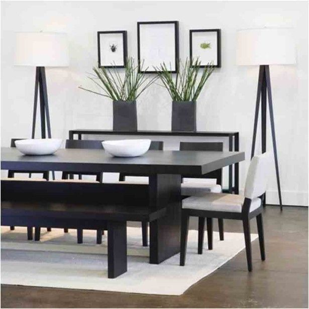 High-Top-Kitchen-Table-Sets-with-White-Chairs-and-Black-Bench-Facing