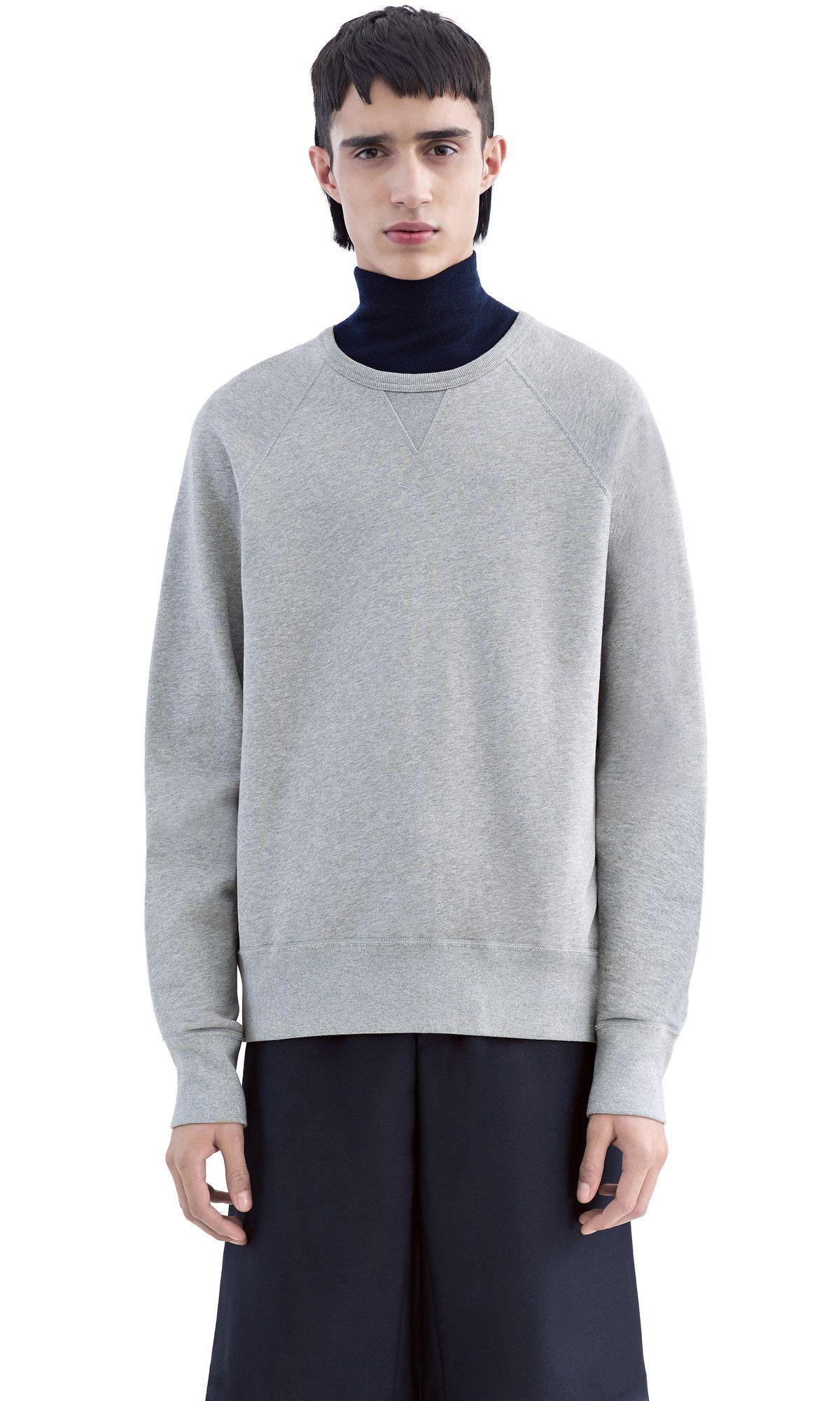 ACNE STUDIOS College Grey Melange. #acnestudios #cloth #sweatshirts