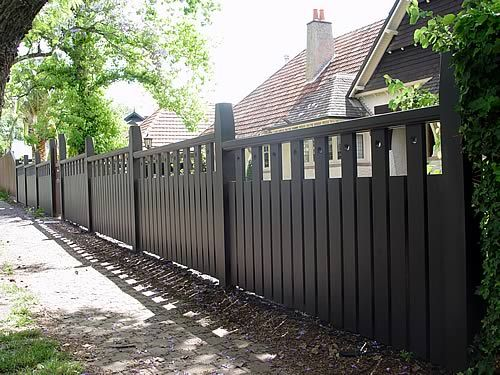 Arts Crafts Fence Design Bungalow Landscaping Fence Styles