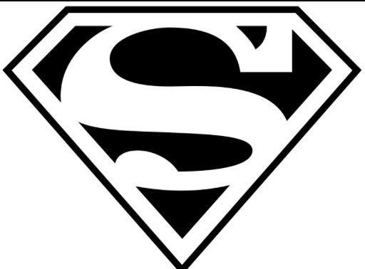 Superhero Black And White