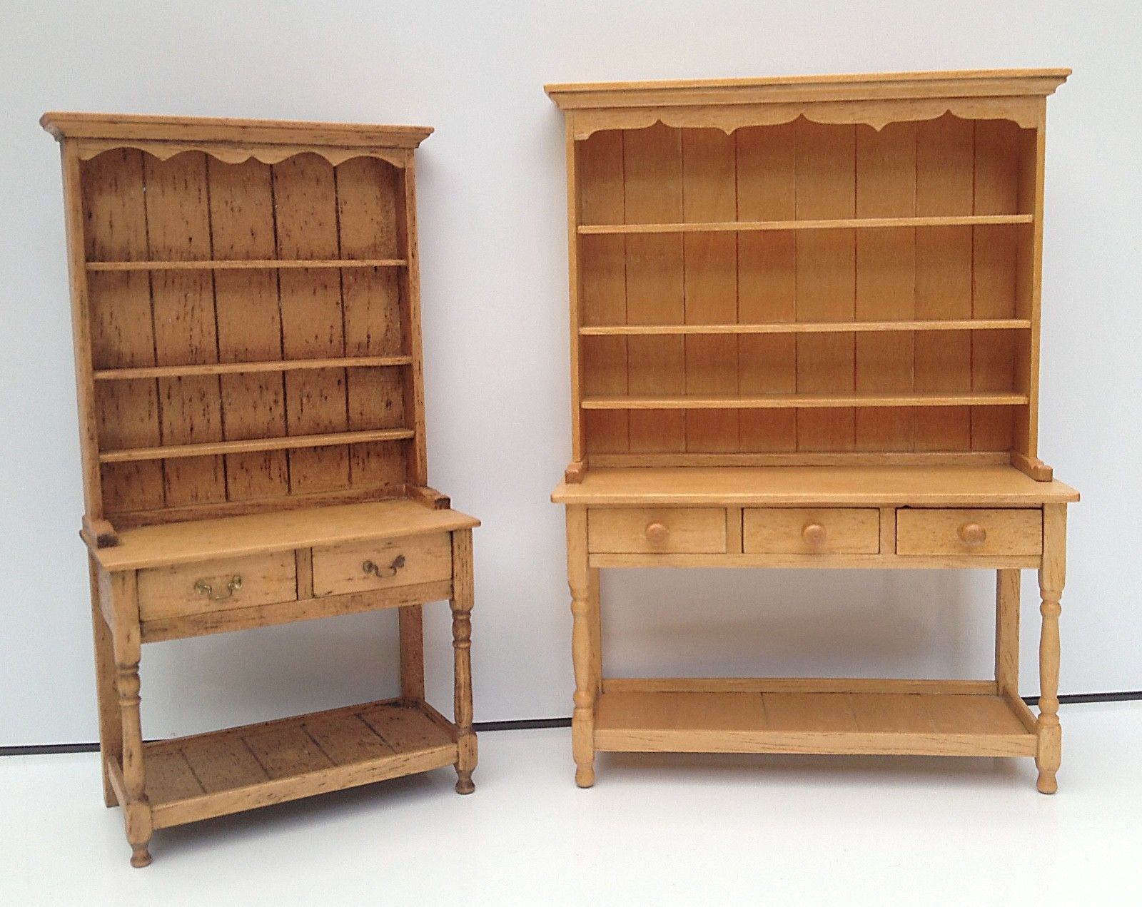 Vintage Jane Newman Small Pine Dresser Aged Classic Dolls House