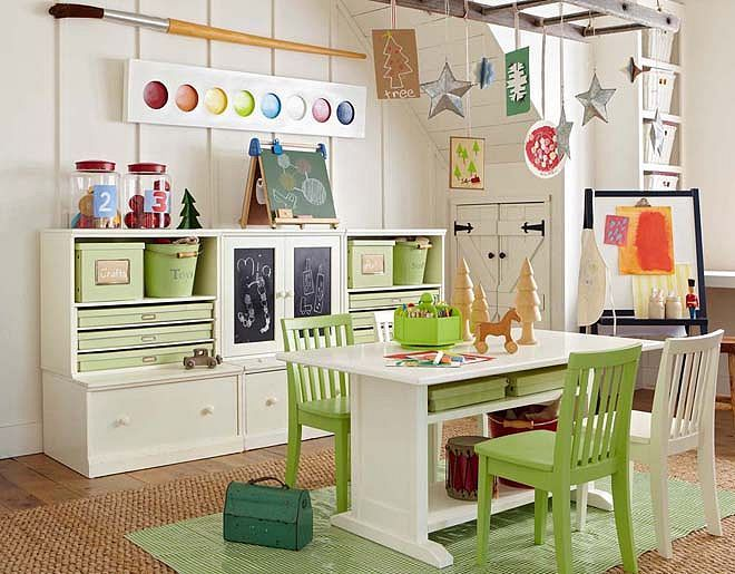Pottery Barn Kids Toddler Art Playroom | Wood toys | Pinterest ...