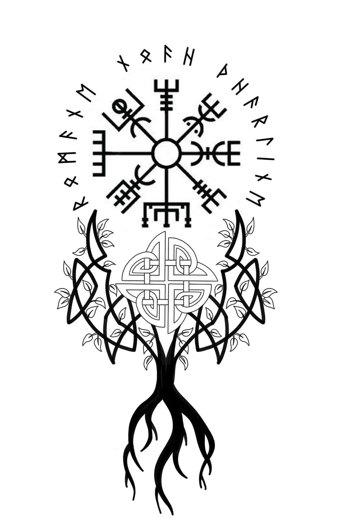 Hand tatoos Norse tattoo, Rune tattoo, Viking compass tattoo