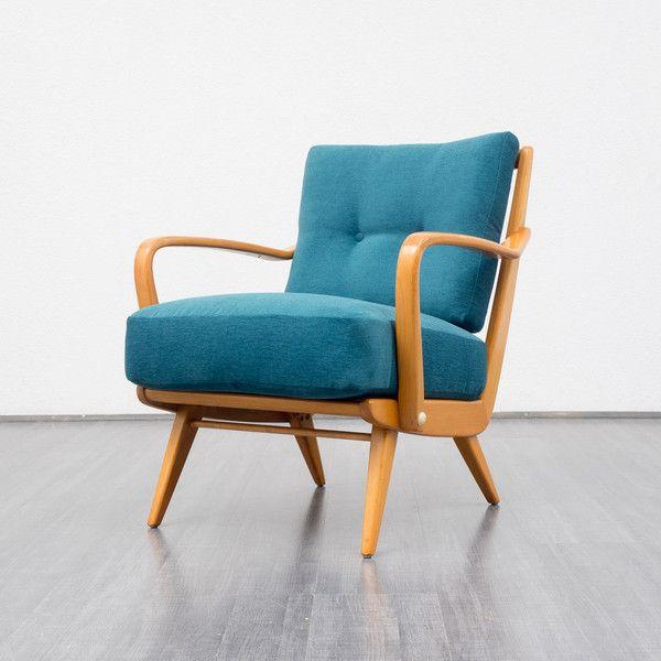 Formschöner 50er Jahre Sessel, Kirschholz von Velvet-Point auf ...