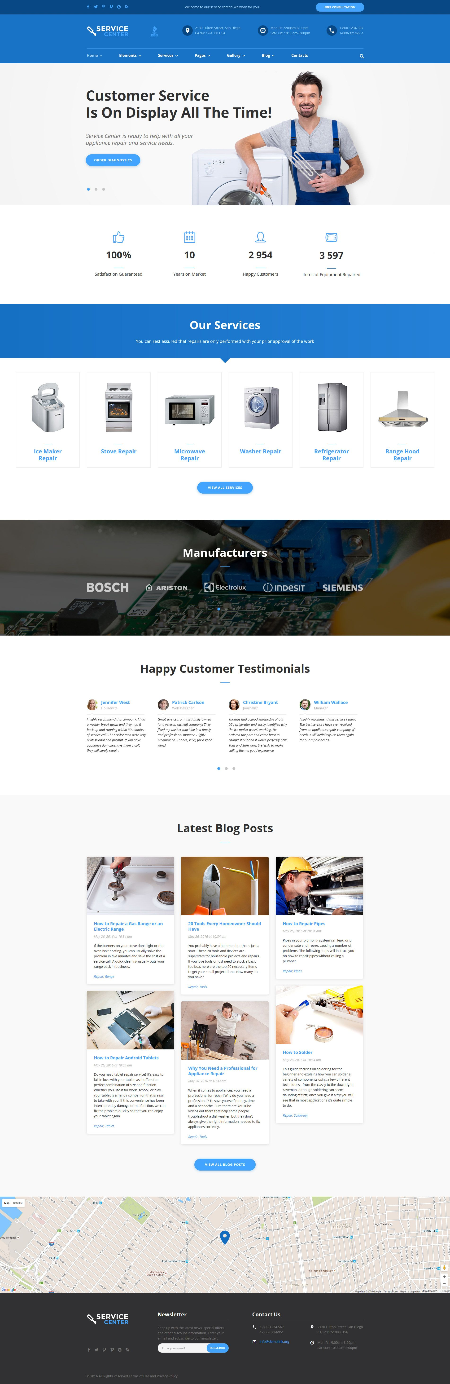 Parallax Website Template Home Repairs Responsive Website Template  Template Website And