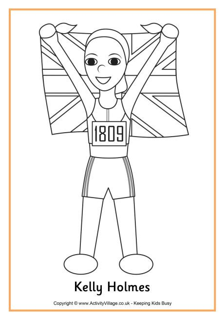 Kelly Holmes Colouring Page Coloring Pages Color Fictional