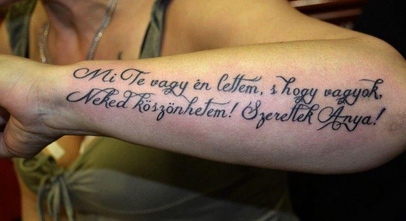 anya idézetek tetoválás Westend Tattoo & Piercing Budapest | Tattoos, Picture tattoos