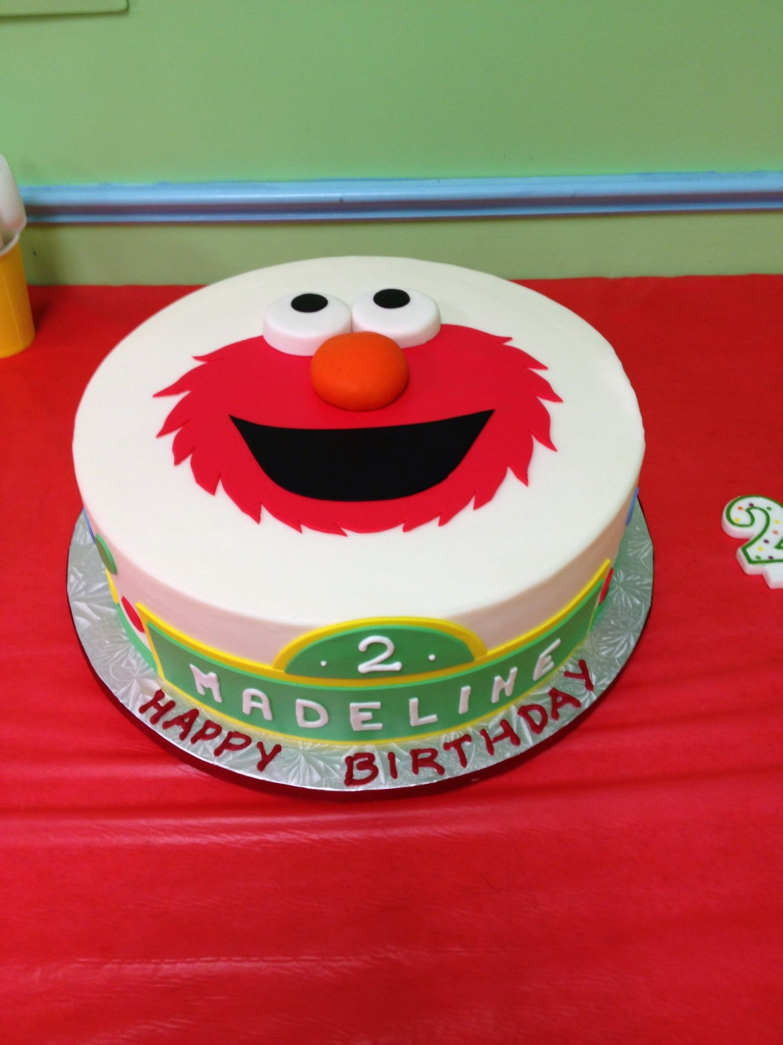 2nd Birthday Elmo Cake Cake Designs By Edda Miami Madeleines