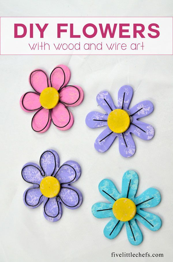 DIY Flowers with Wood and Wire Art | Wire art and Magnets