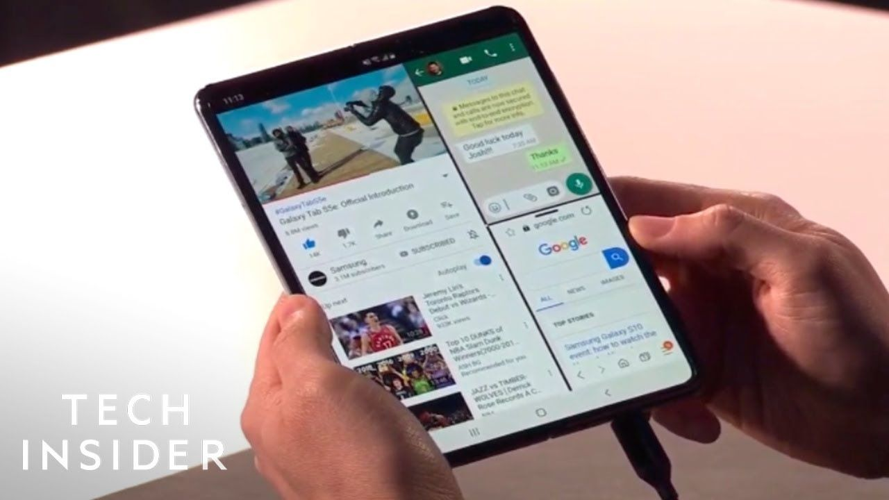 Watch Samsung Unveil Its Foldable Phone The Galaxy Fold Youtube Samsung Samsung Galaxy New Samsung Galaxy