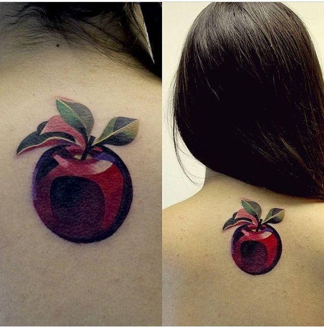 Apple tattoo by Sasha unisex