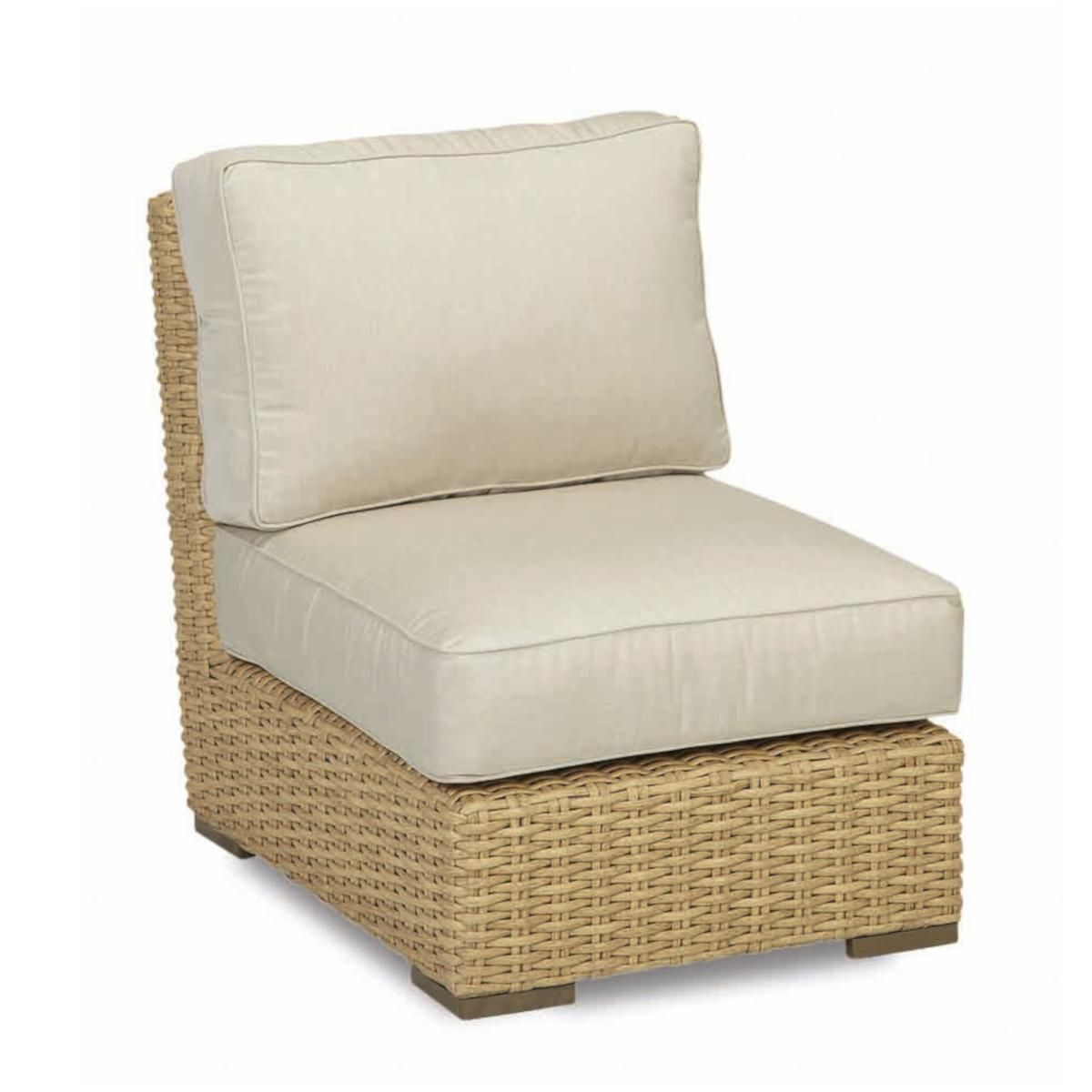Admirable Leucadia Wicker Patio Armless Club Chair W Sunbrella Canvas Caraccident5 Cool Chair Designs And Ideas Caraccident5Info