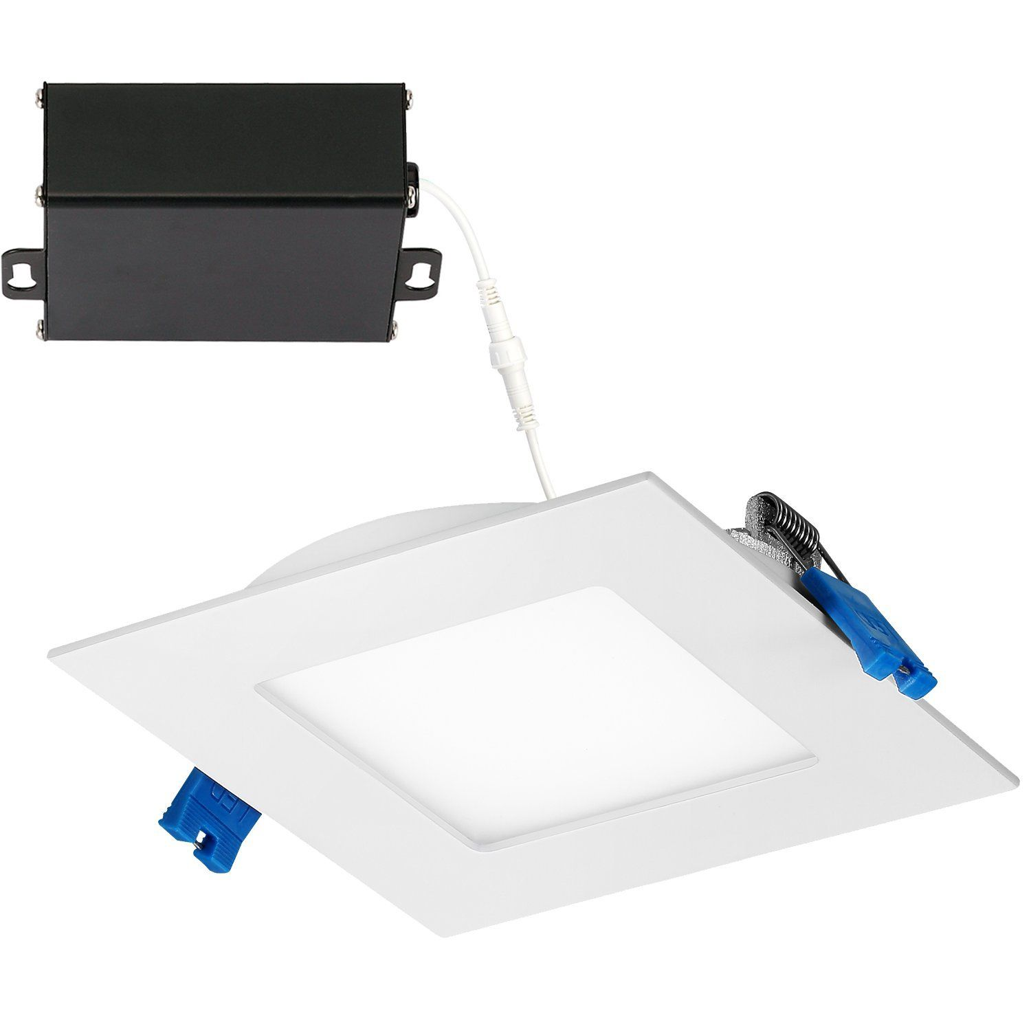 Getinlight Slim Dimmable 4 Inch Led Recessed Lighting Square Ceiling Panel Junction Box Included 3000kso Recessed Lighting Led Recessed Lighting Ceiling Panels
