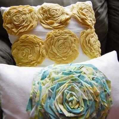 Video Tutorial: How to Create Rosette Pillows {make a pillow}