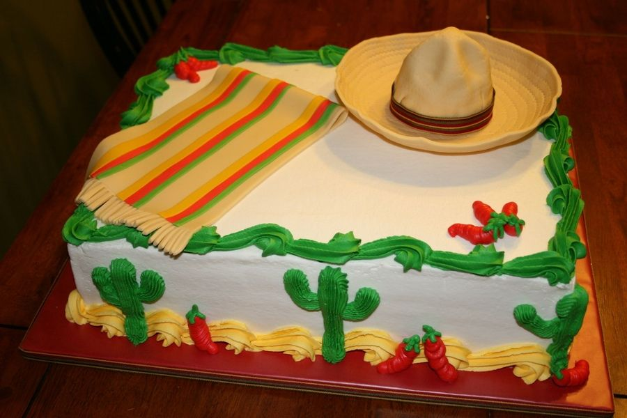 Mexican Birthday Cake Ideas Did This For An Office Party With A
