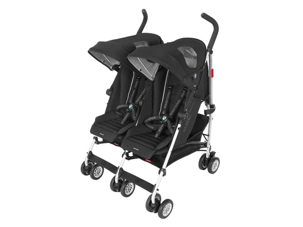 Maclaren Poussette Double Maclaren Twin Triumph Bmw In Black Baby Toddler Twin