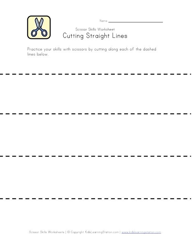 Scissor Skills Worksheets for Kids | Kids Learning Station ...