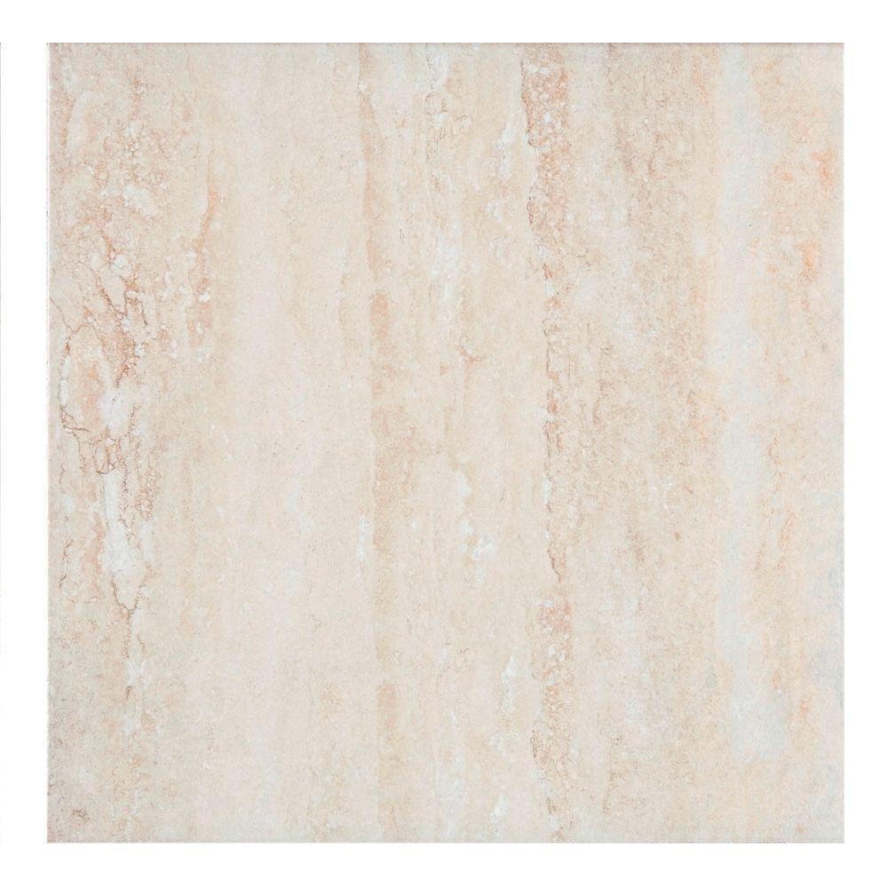 MONO SERRA Travertino 135 in x 135 in Ceramic Floor and Wall