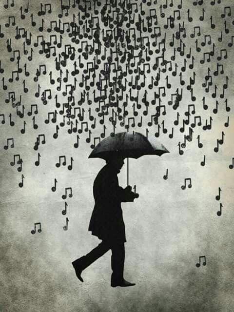 Image De Notes De Musique : image, notes, musique, Pluie, Notes, Musique, Musique,, Dessin, Image