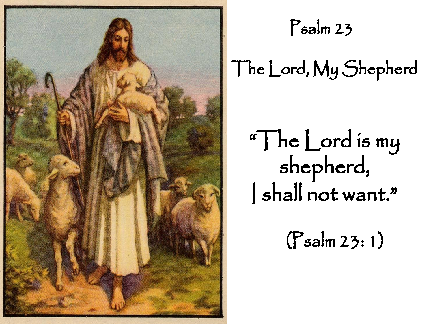 The Lord Is My Shepherd Psalm 23 Psalm 23 The Lord My Shepherd Psalm 23 Lord Is My Shepherd Psalms