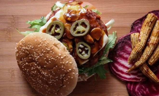 Awesome Grilled Teriyaki Burger with Mushrooms Recipe - The Chacko
