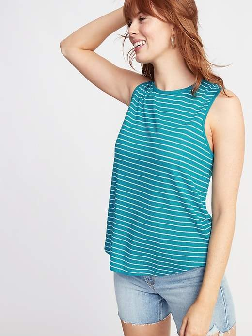 b3a17b5889a8 Relaxed Tie-Back Linen-Blend Sleeveless Top For Women in 2019 ...