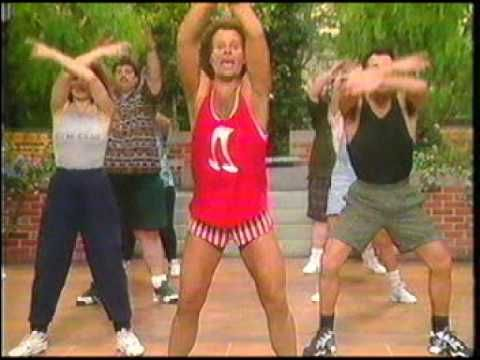 Gay exercise trainer shorts aerobics simmons