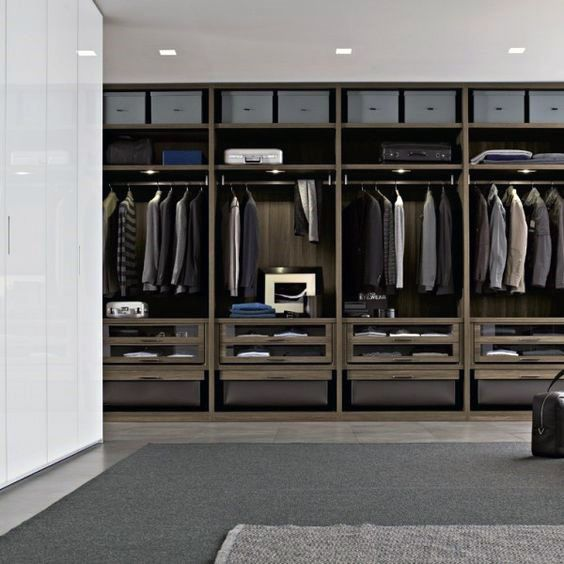 Closets ideas 100 best closet designs for men for Best walk in closet