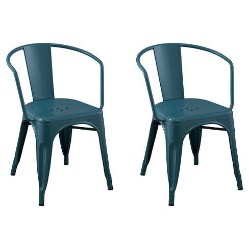 Pull Up The Carlisle Low Back Metal Dining Chairs From