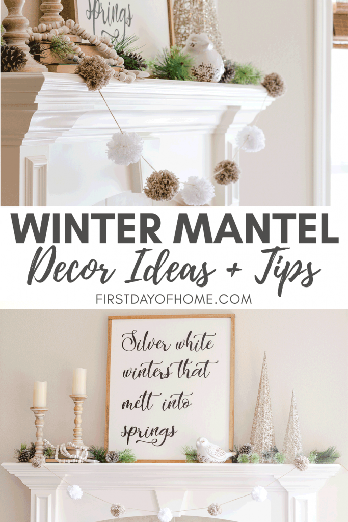 How To Style Easy Winter Mantel Decor For The Season In 2020