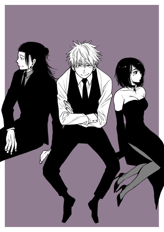 Suguru Geto, Satoru Gojo & Shoko Ieiri Jujutsu Kaisen in