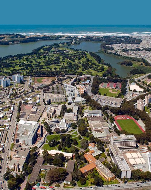 Aerial View Of The Sf State Campus Photo Courtesy Robert Campbell