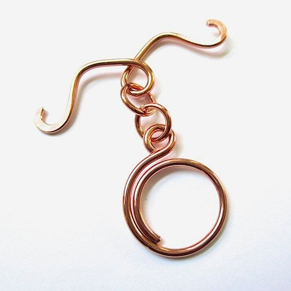Jumbo Copper Toggle Clasp Extra Large Handmade by RoughMagicals, $5.00