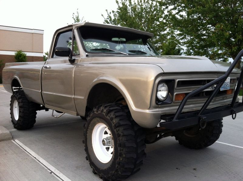 old 4x4 trucks for sale 1967 chevrolet c20 4x4 pickup silver for sale in united states. Black Bedroom Furniture Sets. Home Design Ideas