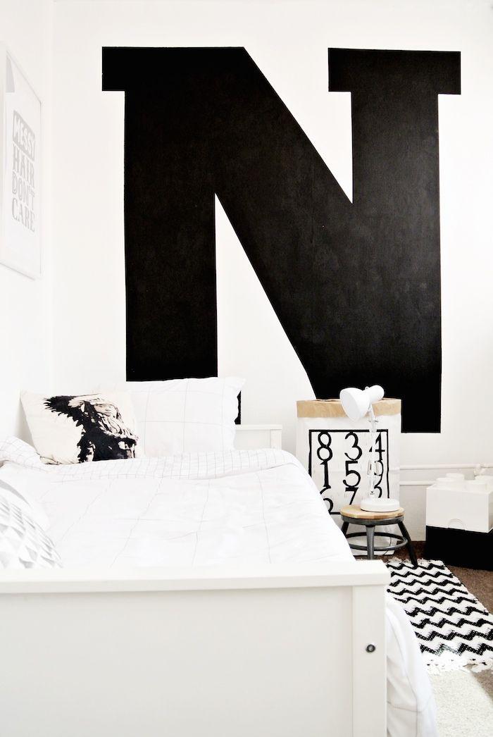 Cool Modern Monochrome Kid Bedroom Aprilandmay Met
